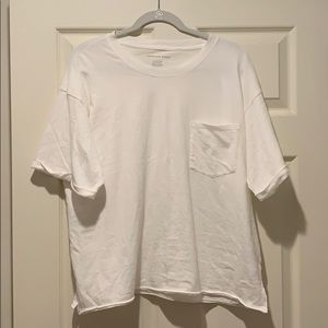 Boxy White American Eagle T-shirt